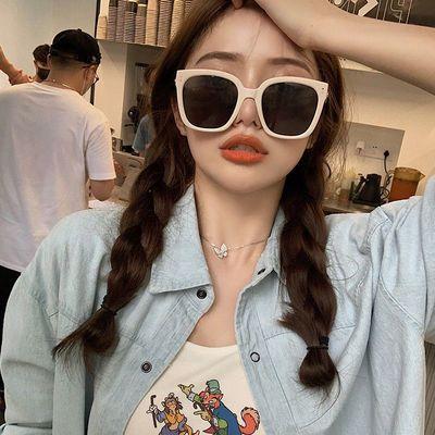 2020新款方框太阳眼镜大脸显瘦网红街拍Jennie同款防紫外线墨镜女
