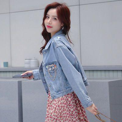 牛仔外套女2020秋季新款短款宽松时尚洋气简约显瘦韩版上衣潮夹克
