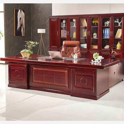 老板桌总裁桌大班台单人办公桌简约现代办公桌椅组合办公家具商用