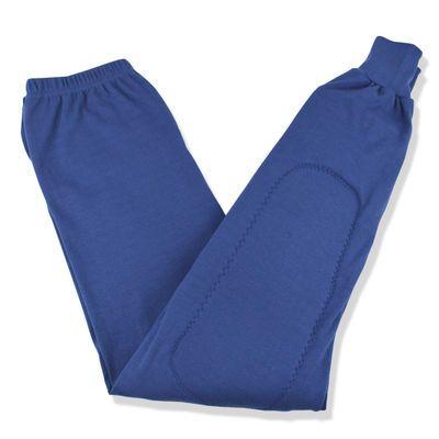 中老年男女护膝秋裤全棉线裤带加厚加长护腿高腰大码防风抗寒秋冬