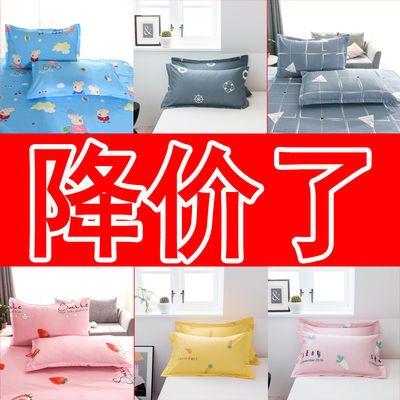 枕头套一对装枕套纯棉单人成人双人100%全棉枕套大号枕套枕芯套皮