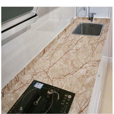 大理石纹墙贴纸防水防油耐高温厨房贴橱柜台面柜门餐桌家具翻新贴