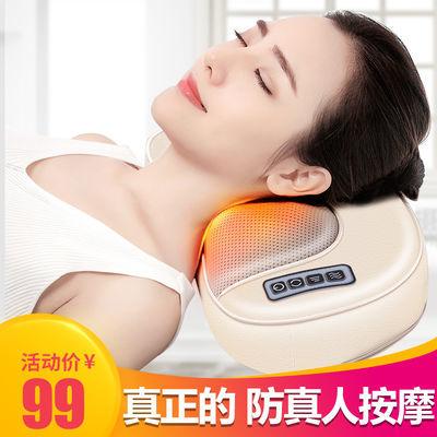杰洛多功能颈椎按摩器颈部腰部背部肩部按摩枕家用电动枕头腰椎仪