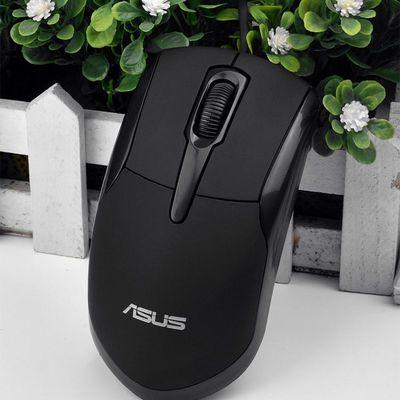 29976/华硕联想有线鼠标静音USB发光电鼠标笔记本台式办公通用鼠标家用