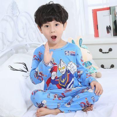 女童睡衣长袖薄款夏季儿童睡衣宝宝春秋季男孩中大童卡通家居服