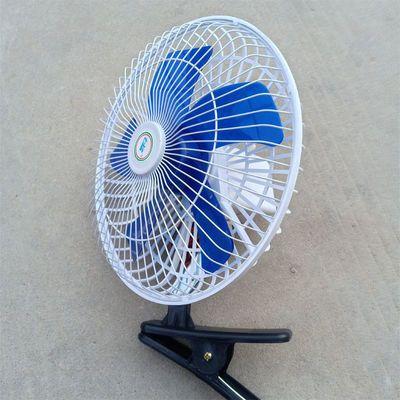 车载电风扇12v24v面包车大货车空调大风力可摇头调速带夹子小电扇
