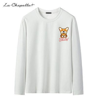La Chapelle+秋季长袖t恤男纯棉男士打底衫修身情侣纯棉ins上衣潮