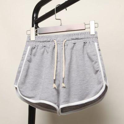 夏季新款韩版宽松休闲3分短裤女大码居家热裤胖MM显瘦高腰阔腿裤