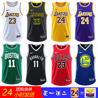 NBA湖人队詹姆斯23球衣套装科比24号篮网欧文11号篮球服背心定制