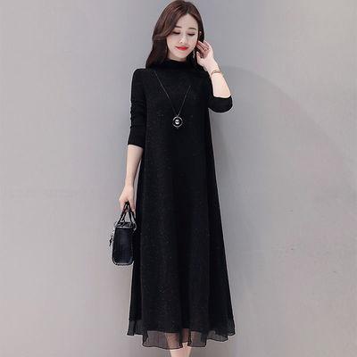 一塘晨秋季款连衣裙2020新款贵夫人时尚洋气长袖小香风