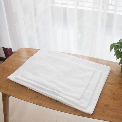 枕头芯套枕套内胆套一对双层拉链枕芯皮纯棉荞麦皮决明子儿童白色