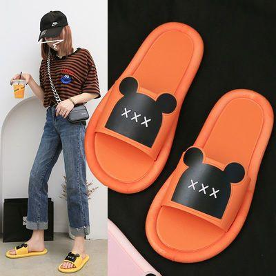 新款网红拖鞋女夏家居外穿防滑时尚学生韩版平底耐磨一字凉拖鞋潮