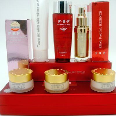 菲芭菲化妆品三件套装FBF嫩白透红精品白里透红六合一美白祛斑霜