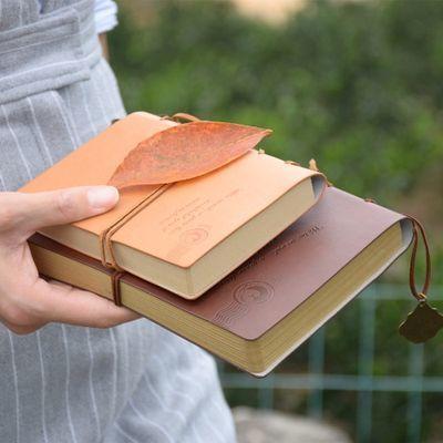 日韩复古皮面微微一笑很倾城贝微微郑爽同款牛皮纸日记事笔记本子