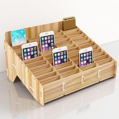 手机收纳盒放手机的架子教室会议班级管理整理多格屏幕钢化膜壳箱