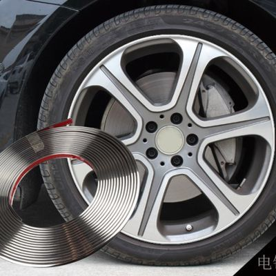 汽车轮毂防撞条车身装饰条中网亮条电镀轮毂防撞贴保护圈防撞条