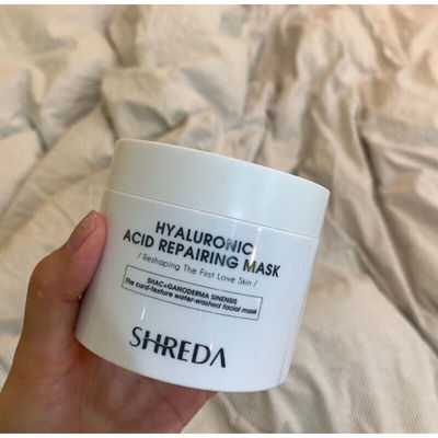 SHREDA福瑞达面膜玻尿酸涂抹透明质酸钠面膜修护保湿补水送硅胶刷