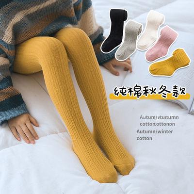 儿童连裤袜子春秋冬季薄款白色中厚棉小宝宝女孩童洋气外穿打底裤