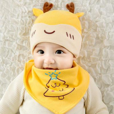 婴儿帽子冬天新生儿胎帽0-3-6-12个月男女宝宝春秋季初生婴幼儿帽