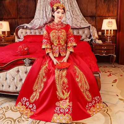 秀禾服新娘2020新款龙凤褂中式婚纱古装嫁衣秀和敬酒礼服结婚2019