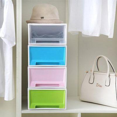 衣柜内衣收纳盒抽屉式家用放内裤袜子收纳箱分隔文胸盒分格可叠加