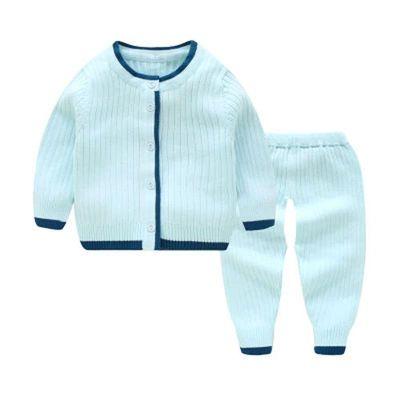 春秋冬婴儿毛衣套装男女小童宝宝纯棉针织衫新生儿线衣纱衣0-3岁