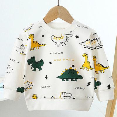 中小童印花男女童长袖T恤儿童圆领纯棉卫衣男孩打底衫秋冬季新品