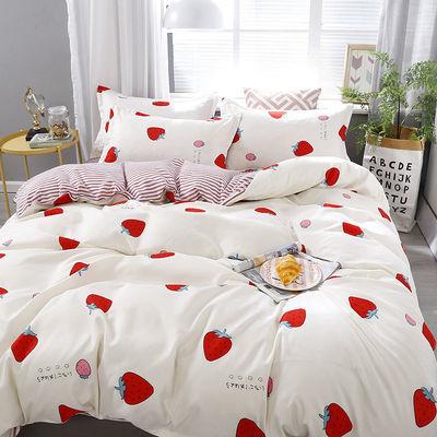 全棉纯棉卡通学生套件单人双人芦荟棉四件套床单被套枕套
