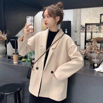 73335/秋冬季新款2020韩版学院风网红西装外套女学生百搭宽松纯色女上衣