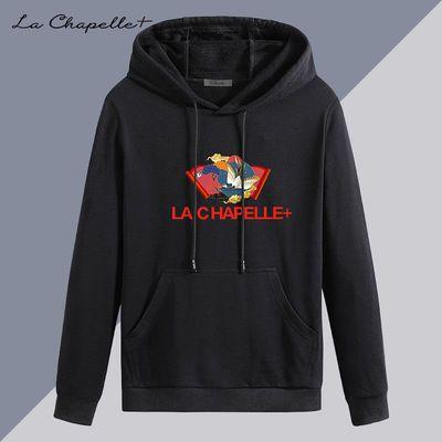 La Chapelle+男士卫衣春秋季连帽潮流长袖t恤宽松情侣装外套秋衣