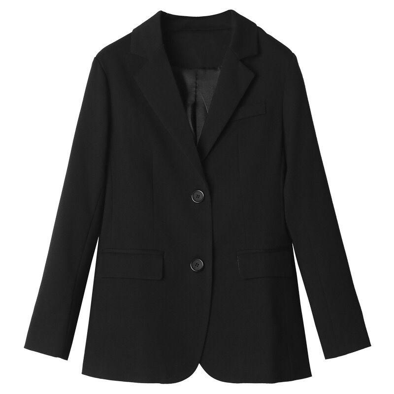 热卖新款黑色小西装外套女2021春秋新款韩版宽松女士小西服休闲职