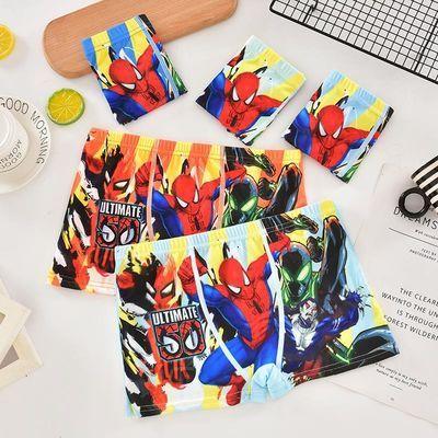 5条亏本包邮蜘蛛侠男童卡通可爱儿童小学生小中大童四角短裤内裤
