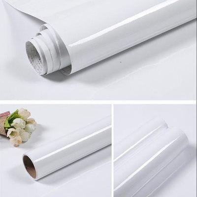 包邮壁纸自粘墙面PVC防水壁纸墙贴纯白色即时贴翻新橱柜抽屉贴纸