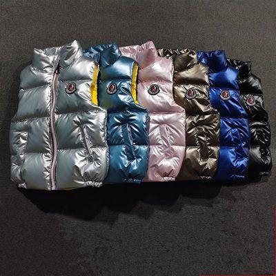 新款冬季儿童装羽绒马甲男童女童小孩加厚保暖立领坎肩外穿夹背心