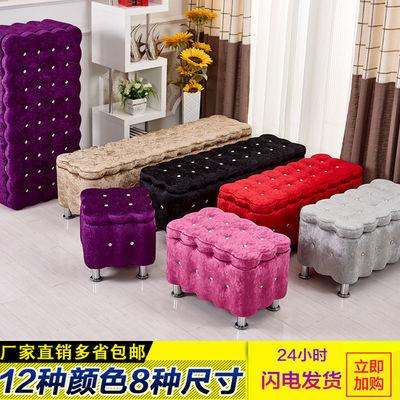 欧式换鞋凳布艺沙发凳简约储物凳床尾凳服装店沙发收纳凳特价包邮