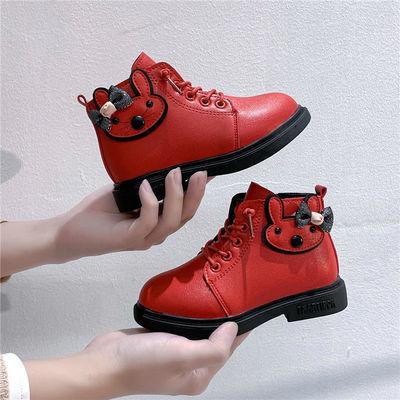 女童马丁靴2020秋冬新款时尚公主靴中大童加绒女孩短靴儿童靴子潮