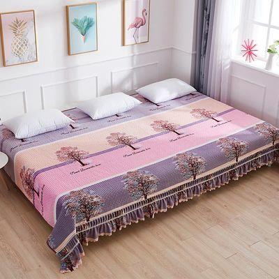 水晶绒床盖单件毛毯炕盖保暖加厚床罩榻榻米大炕床四季毯防滑床单