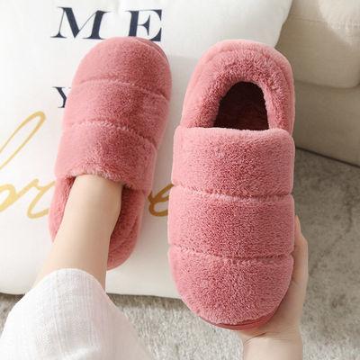 棉拖鞋包跟男冬季家居家用防滑厚底卧室内地板保暖孕妇月子棉鞋女