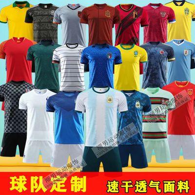 阿根廷梅西球衣男儿童C罗足球衣训练服 男童足球服套装定制球服男