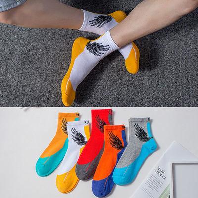 秋冬季新款男袜韩版百搭原宿街头学生中筒袜长袜厚款袜男士运动袜