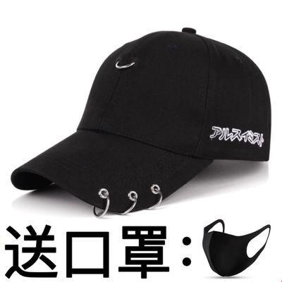 75754/帽子男潮鸭舌帽韩版男士夏季太阳帽黑色ins潮牌女休闲百搭棒球帽