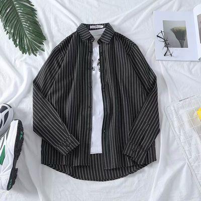 热销200斤大码黑色衬衫男士宽松韩版5xl码格子衬衣外套加肥学生长