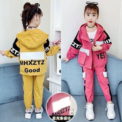 女童网红洋气套装2020春秋季新款韩版童装中大童儿童运动服三件套