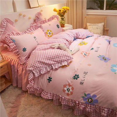 加厚磨毛网红ins风床裙款被套四件套床单被罩4三件套床罩床上用品