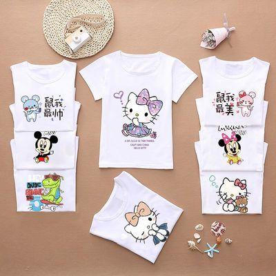 100%棉儿童衣服女童打底衫纯棉宝宝短袖t恤婴儿夏季童装男 童装女