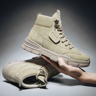 秋季男鞋新款男士马丁靴韩版冬季高帮男鞋复古工装男靴子军靴棉鞋