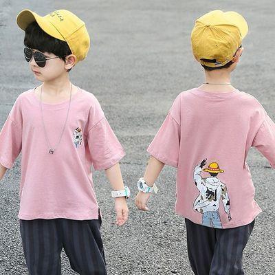 男童短袖t恤13岁12男孩夏装2020新款宝宝上衣服中大童儿童体恤潮