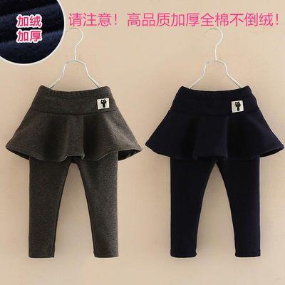 童装新款女童打底裤女宝宝假两件保暖裤裙子儿童裙裤