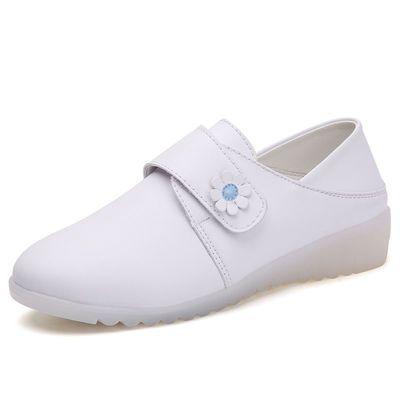 鞋子女春秋季新款护士鞋软底透气不累脚舒适可爱小白鞋加绒豆豆鞋