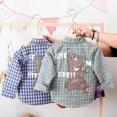 男童格子衬衫1-3岁4潮儿童衬衣长袖小童春秋宝宝童装男宝宝春秋装